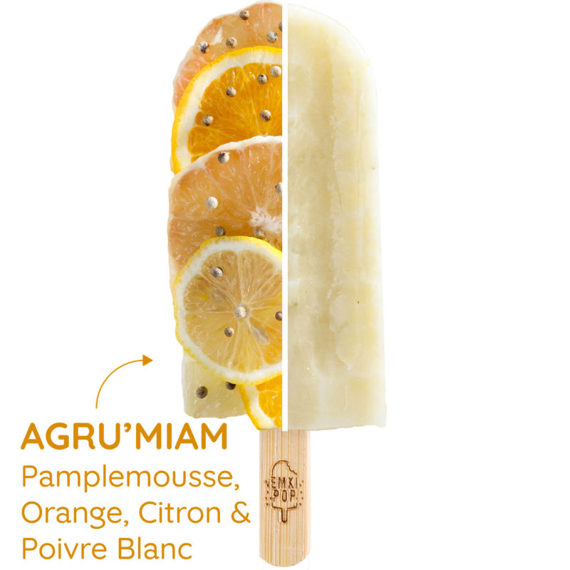 Agru'miam - Pamplemousse, Orange, Citron & Poivre Blanc | Sorbet Artisanal