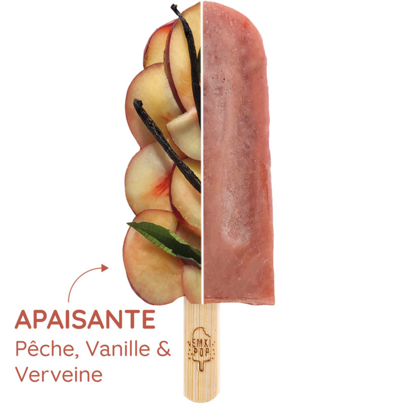 Apaisante - Pêche, Vanille & Verveine | Sorbet Artisanal