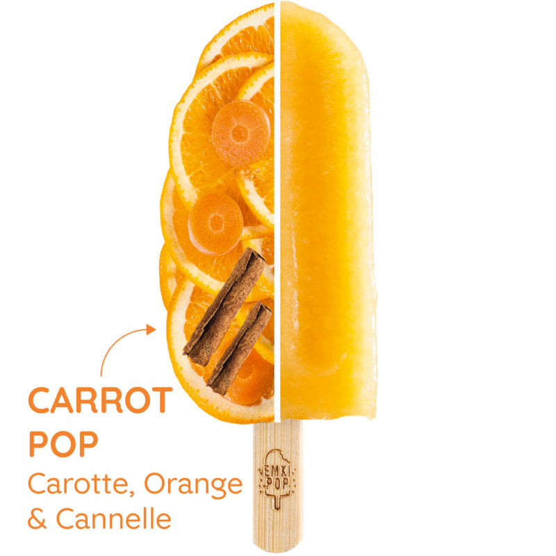 Carrot Pop - Carotte, Orange & Cannelle   Sorbet Artisanal