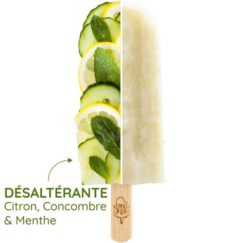 Désaltérante - Citron, Concombre & Menthe | Sorbet Artisanal