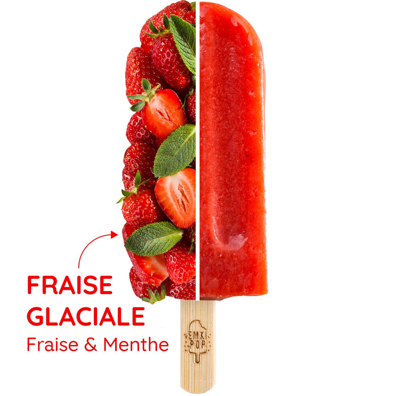 Fraise Glaciale - Fraise & Menthe | Sorbet Artisanal