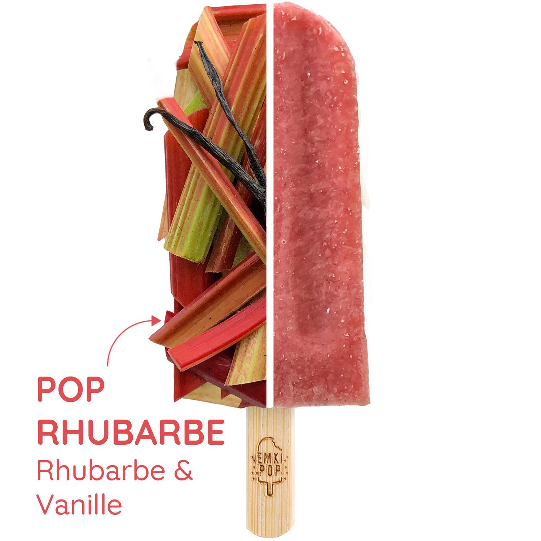 Pop Rhubarbe - Rhubarbe & Vanille | Sorbet Artisanal