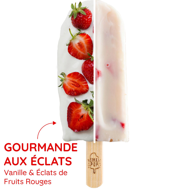 Gourmande aux Éclats - Vanille & Éclats de Fruits Rouges | Glace Artisanal